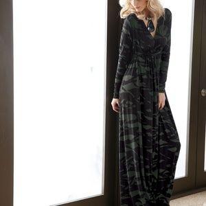 Rachel Pally Pine Reflection Long Sleeve Dress
